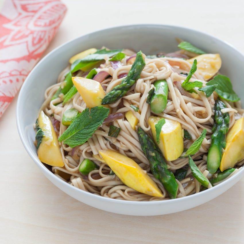 Spring Herb & Vegetable Lo Mein