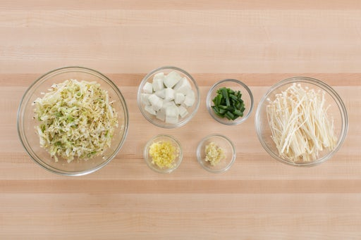Prepare the ingredients & make the kimchi: