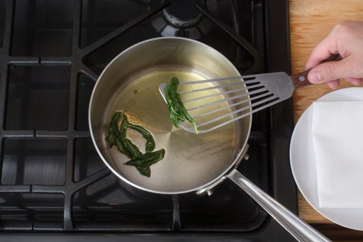 Fry the sage: