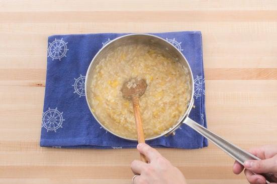 Finish the risotto: