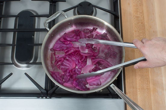 Cook & glaze the cabbage: