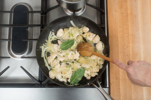 Start the chicken & aromatics: