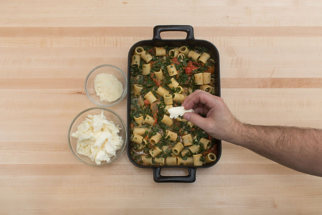 Assemble & bake the pasta: