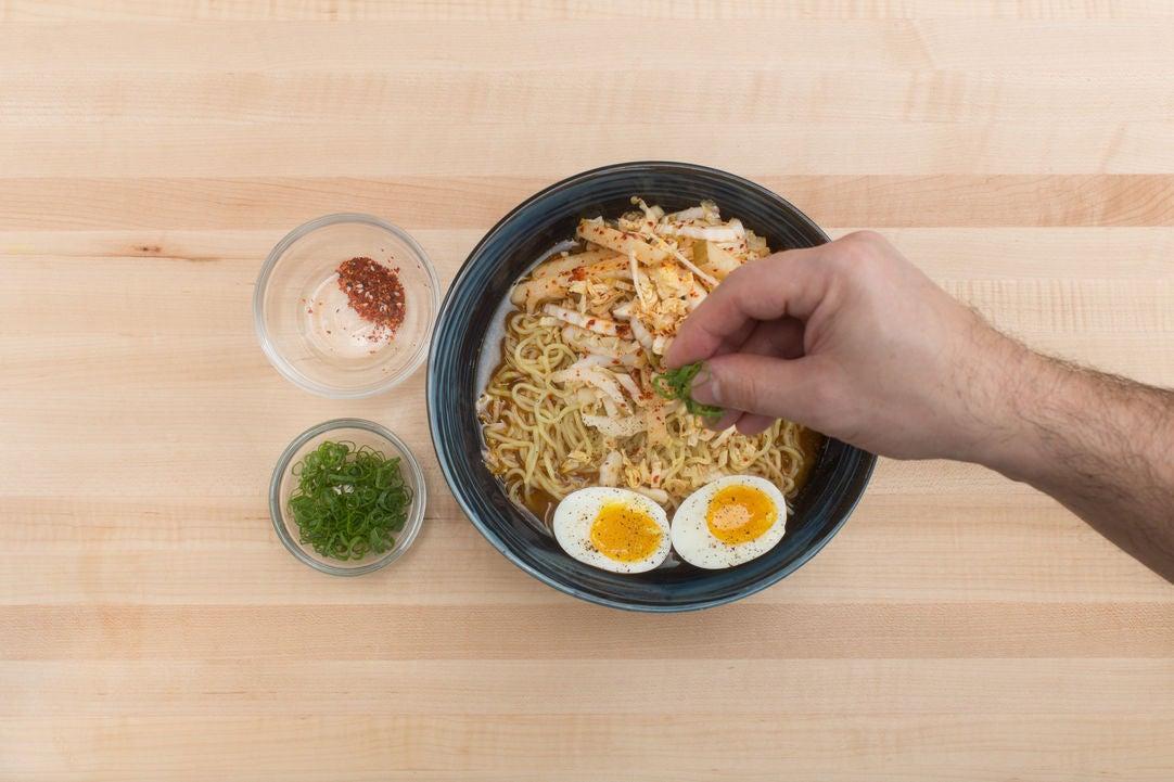 apron ramen blue recipe Soft  Apron Eggs Miso Boiled & & Ramen Barley with Blue Pear Asian