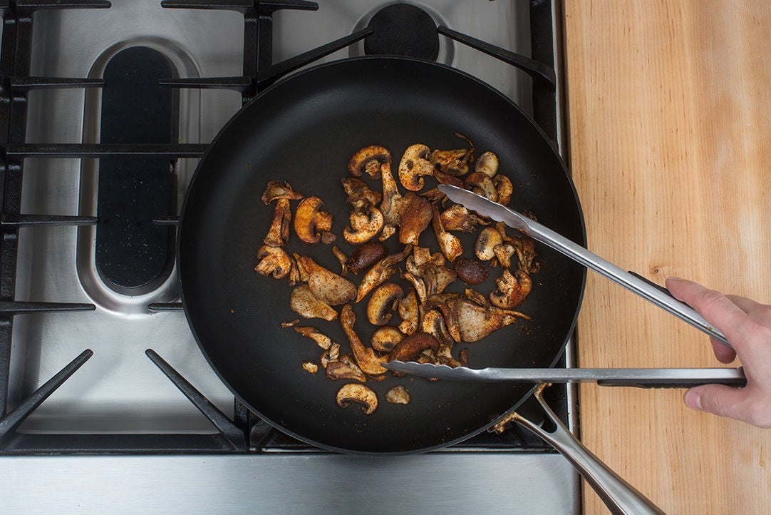 Cook the mushrooms: