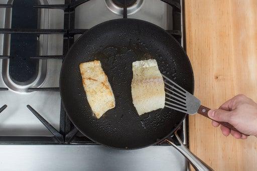 Cook & flake the cod: