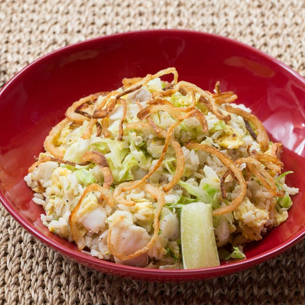 Cod Kedgeree with Basmati Rice, Eggs & Frizzled Onion