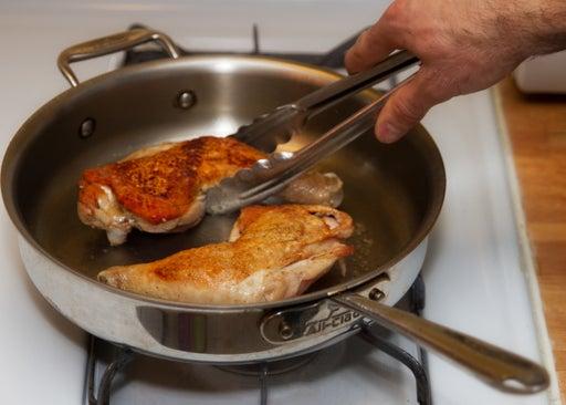 Start cooking the chicken: