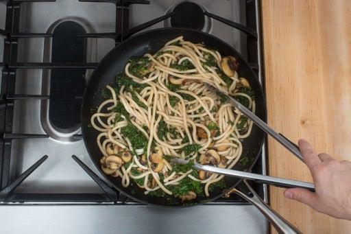 Add the kale & noodles: