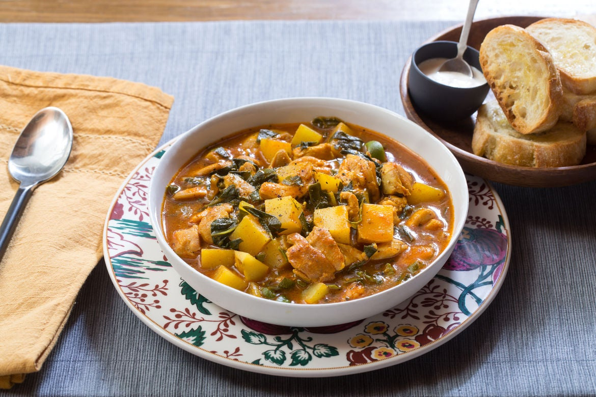 Provençal Chicken & Potato Stew with Aioli & Garlic Toasts