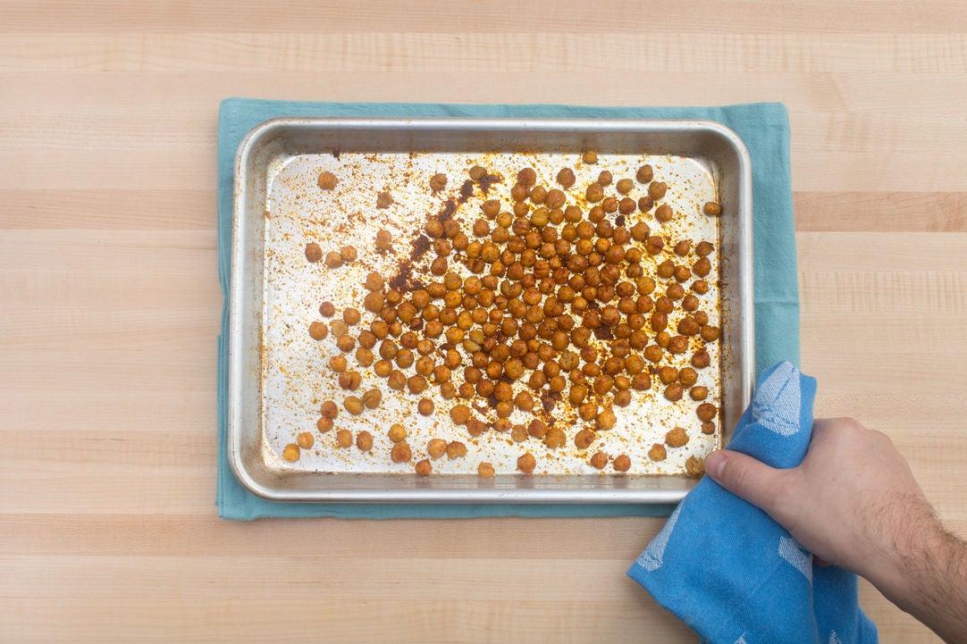 Roast the chickpeas: