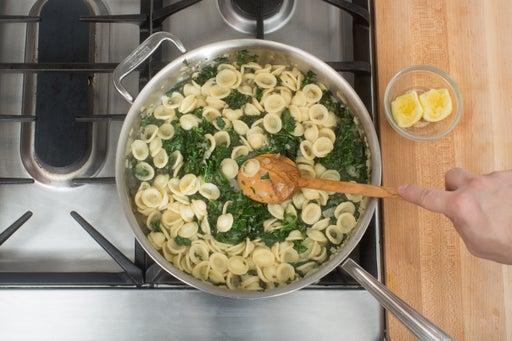 Add the pasta & make the sauce: