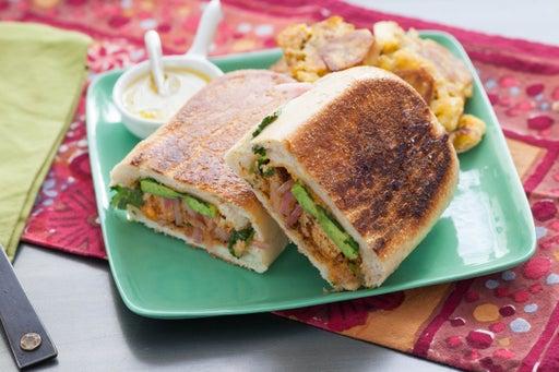 Tofu Tortas & Tostones with Mojo Dipping Sauce