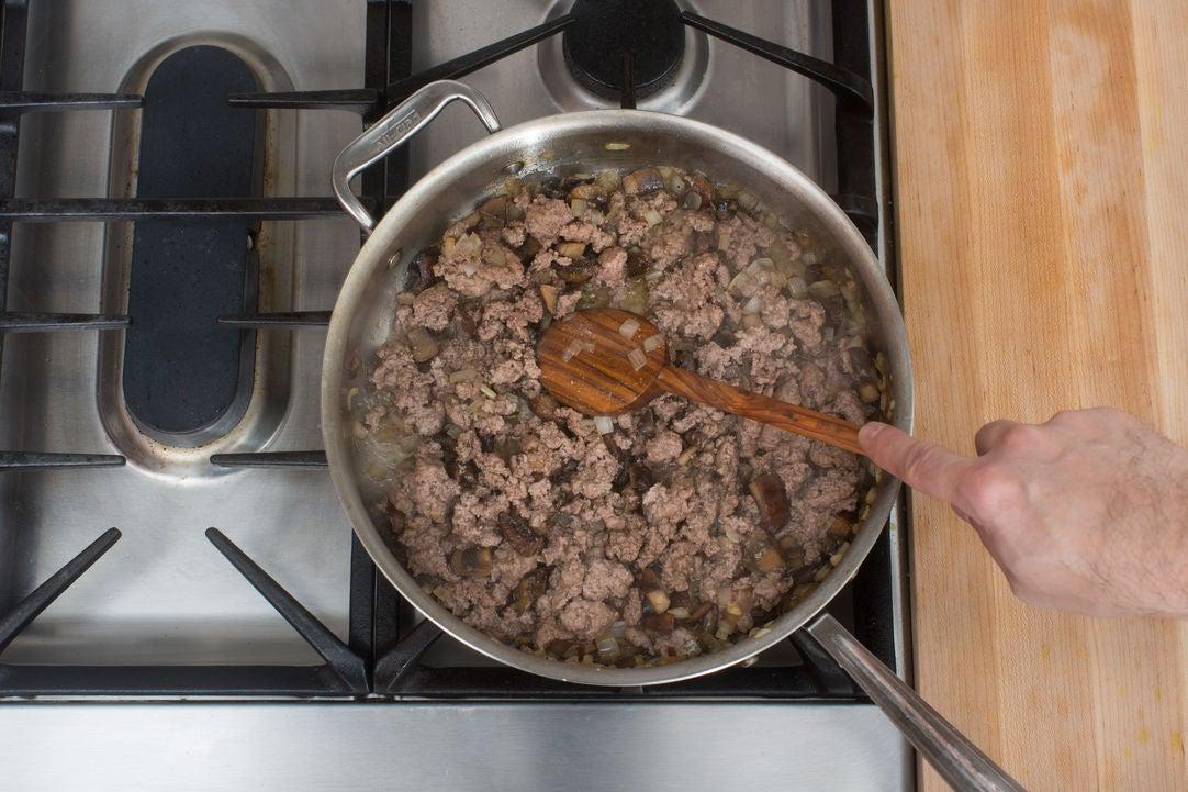 Add the lamb & beef: