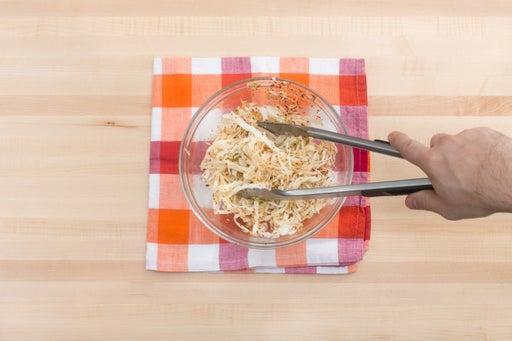 Make the kimchi: