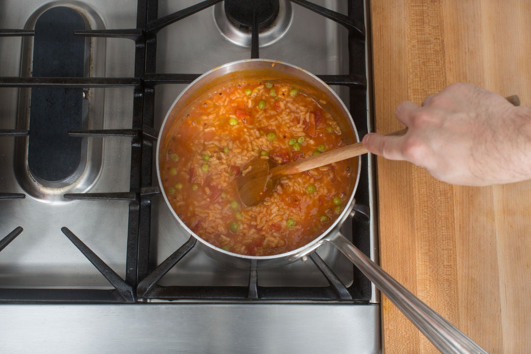 Cook the rice: