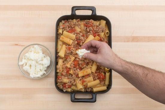 Assemble & bake the pasta: