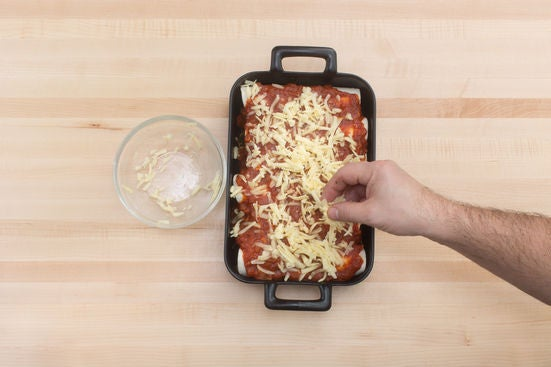 Finish the enchiladas & serve your dish: