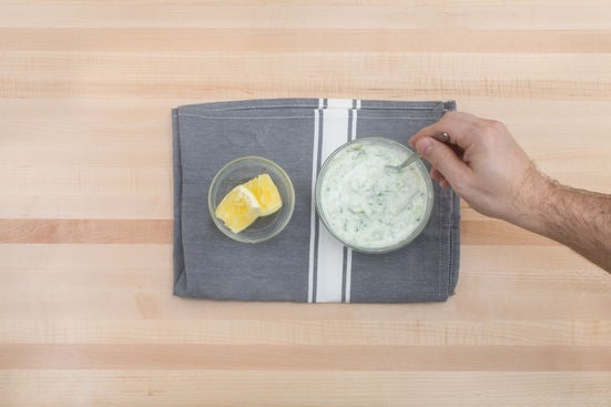 Make the tzatziki: