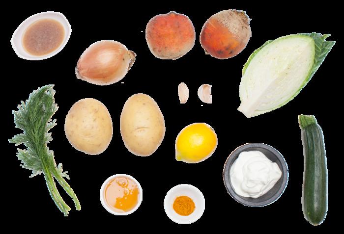 Golden Beet Borscht  ingredients