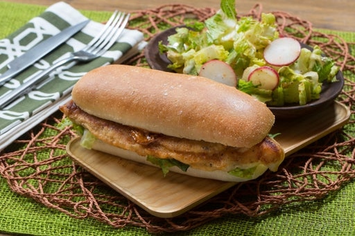 Crispy Catfish Sandwiches with Spicy Lime Aioli & Chopped Salad