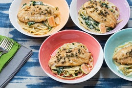 Catfish Piccata with Linguine & Pink Lemon
