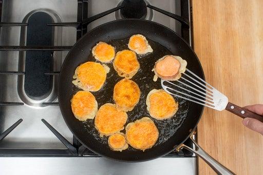 Make the sweet potato tempura: