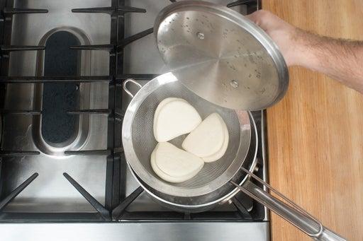 Steam the buns: