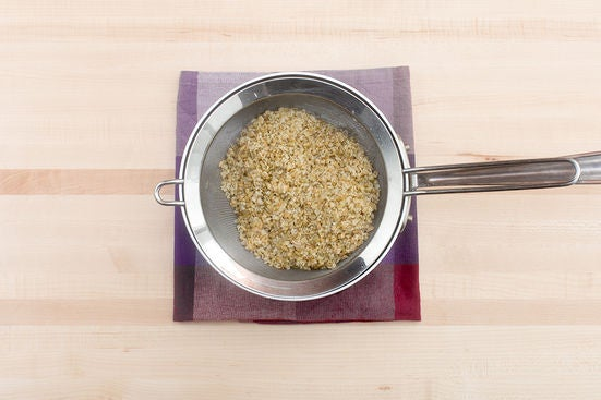 Toast & cook the freekeh: