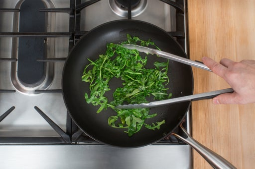 Cook the arugula: