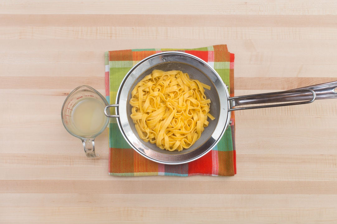 Cook the pasta: