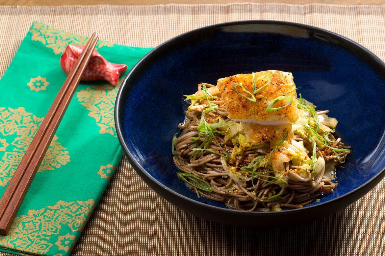 Blue apron yuzu cod - Crispy Cod Yuzu Shoyu Soba With Cabbage Togarashi