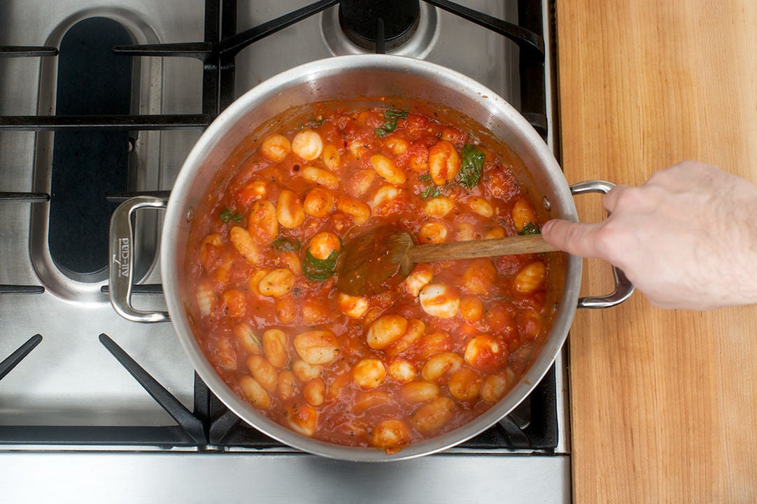 Finish the gnocchi: