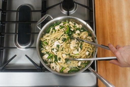Finish the pasta:
