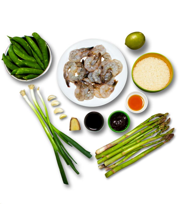Shrimp & Asparagus Fried Rice  ingredients