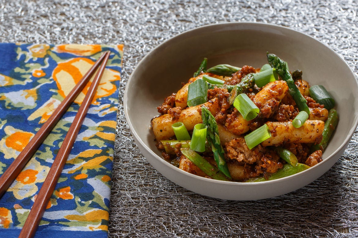 Blue apron pork