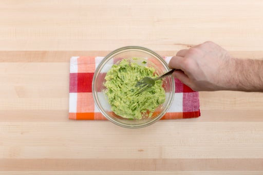 Make the guacamole: