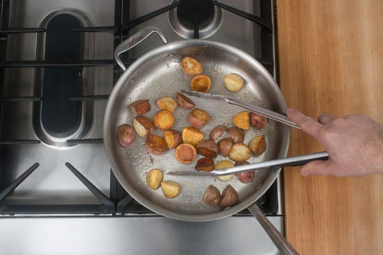 Cook the potatoes: