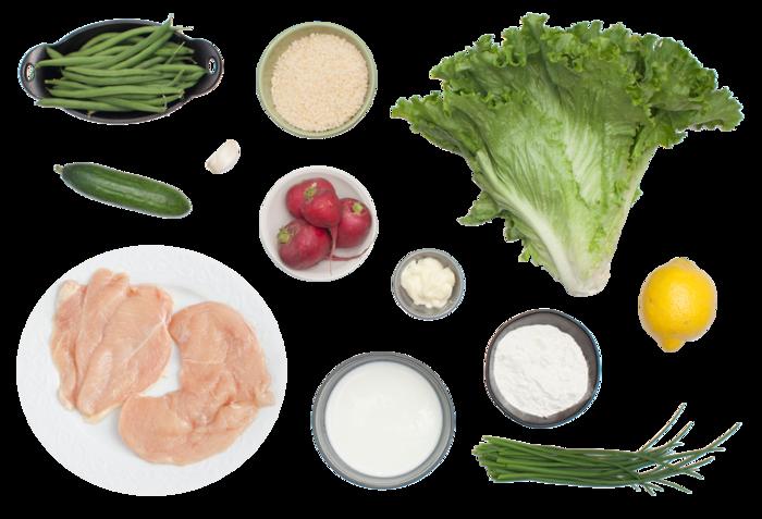 Crispy Chicken Chopped Salad with Creamy Buttermilk Dressing