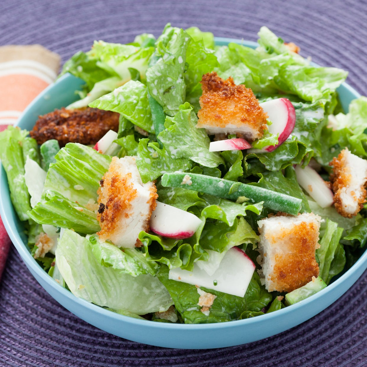 Crispy Chicken Chopped Salad with Creamy Buttermilk Dressing