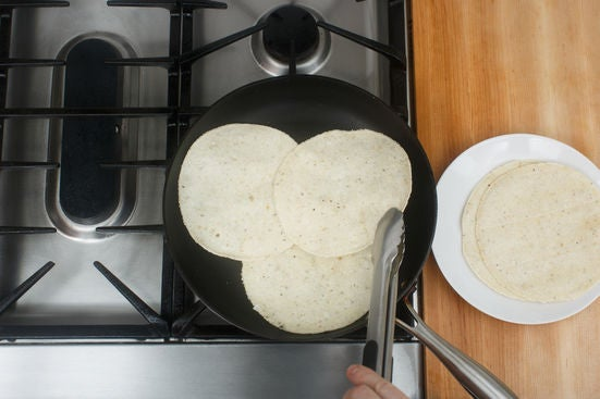Warm the tortillas: