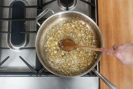 Cook the aromatics:
