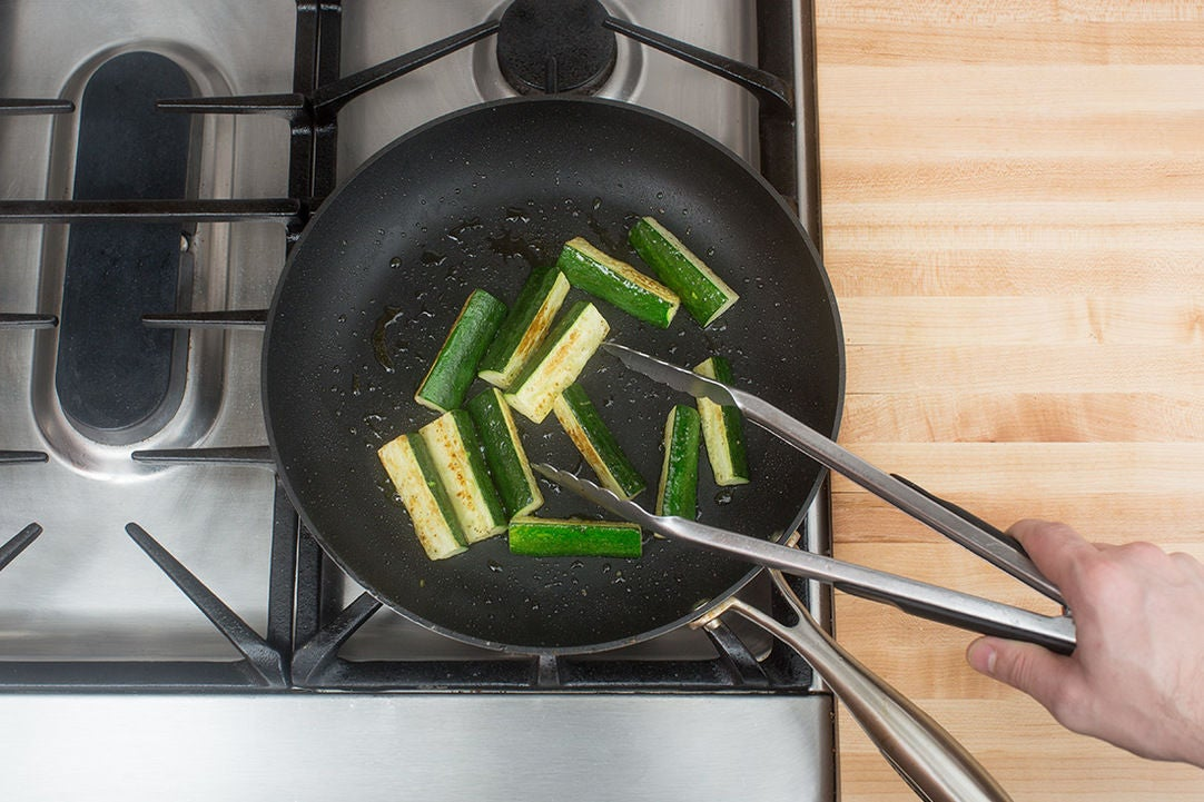 Cook & dress the zucchini: