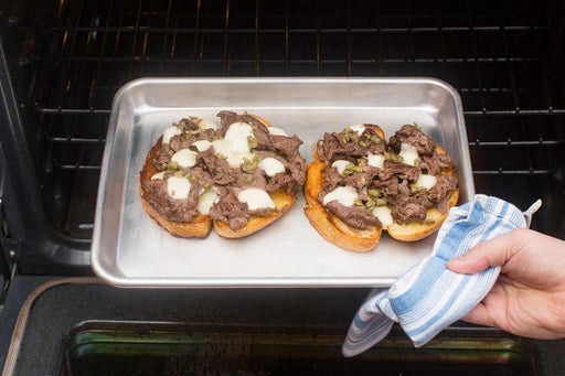 Finish the tartines & plate your dish: