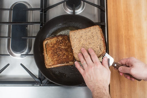 Assemble & cook the sandwiches: