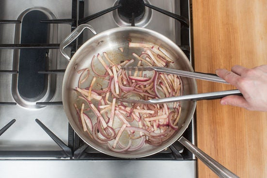 Cook the onion & turnip: