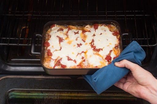 Assemble & bake the chicken parmesan: