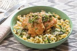Chicken Piccata with Fusilli Pasta & Garlic Chives