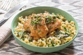 Chicken Piccata with Fusilli Pasta & Garlic Chives