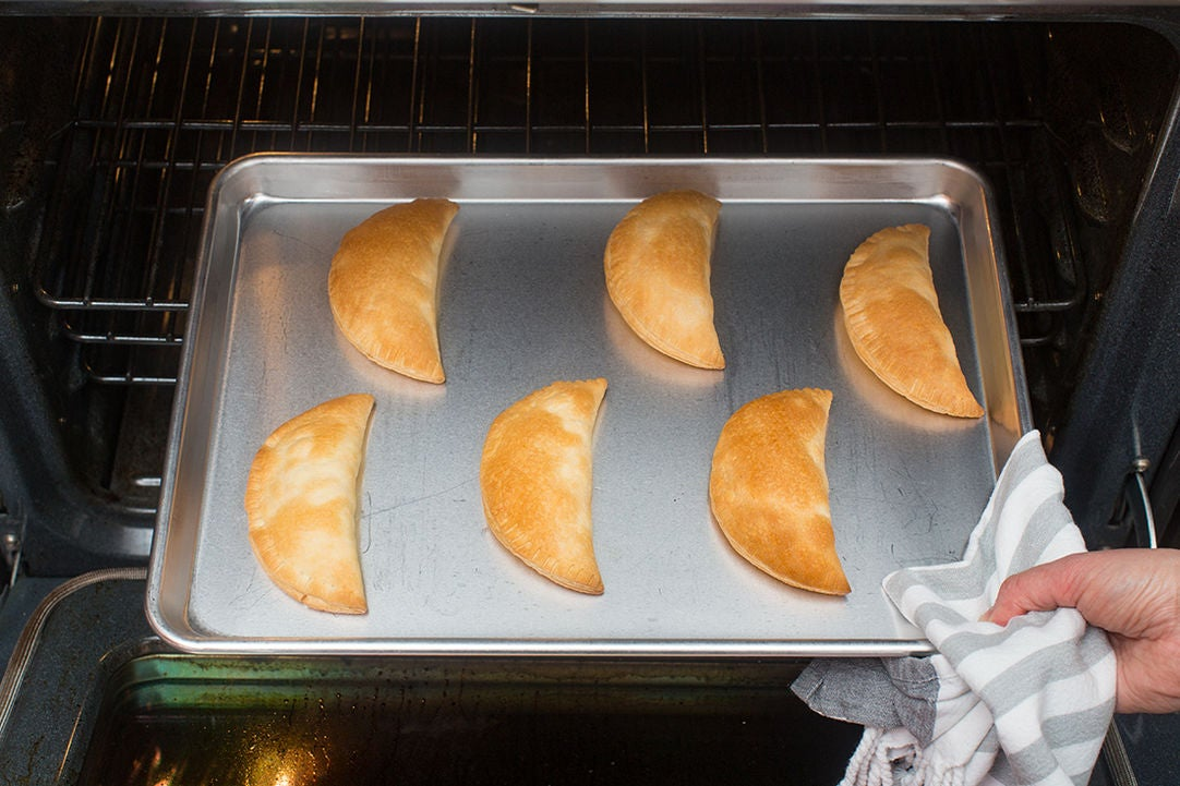 Bake the samosas:
